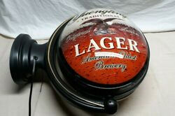 Yuengling Lager And Yuengling Light Rotating Beer Light Sign 20 X 24 Inches