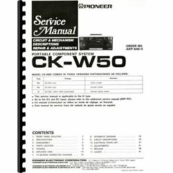 Pioneer Ck-w50 Portable Stereo Boombox Service Manual Pages 70