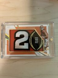 Trevor Lawrence 2021 Panini Immaculate Game Worn Championship Patch Andrsquod 5/5