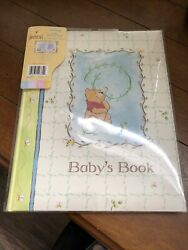 [new W/plastic Cover] Disney Sincerely Pooh Baby Memory Book Limited/rare