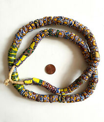 Antique Venetian Millefiori Glass African Trade Beads - 100 Mixed Large Strand