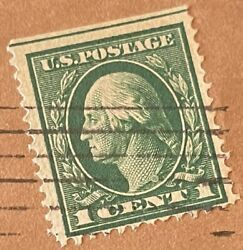 Rare Green George Washington Stamp - Vintage 1930and039s - 1 Cent Stamp - Used