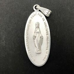 Germany Religious Medal Mother Mary Pray For Us Devotional Catholic Pendant