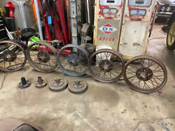 1927 Model T Ford Wire Wheels And Hubs