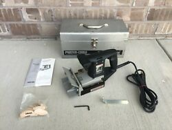 Porter Cable Plate Joiner Model 555 Metal Toolbox Biscuit Great Condition