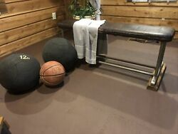 Antique Leather Gymnastic Bench