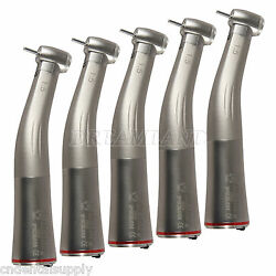 5 Pack Dental Low Speed Fiber Optic Led 15 Increasing Contra Angle Handpiece Ca