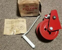 Nos Vintage 1970and039s Boat Sailboat Keel Winch And Handle Fulton 527 Milwaukee