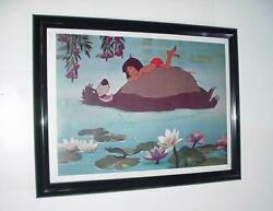 Disneyand039s Jungle Book Poster Framed Animated Movie Mowgli And Baloo