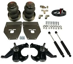Front Deep Drop Air Ride Suspension Kit Bags Brackets And Spindles For 1971-72 C10