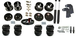 3/8 Front Rear Airlift D2500 Air Ride Suspension Bag And Shock Kit For 63-64 Cadi