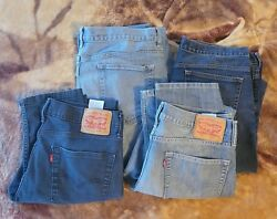 4 Pairs Mens Jeans 36x34 Leviand039s 511 Urban Pipeline