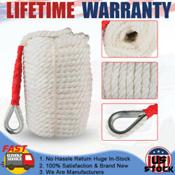 3/4x200and039 Twisted Three Strand Nylon Rope Dock Cord Anchor Boat Sailboat White