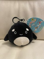 """Nwt Squishmallow 3.5"""" Kai Orca Killer Whale Clip On Exclusive Hard To Find"""