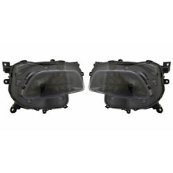 For Jeep Cherokee Head Light 2016-2018 Pair Rh And Lh Side Black Trim Halogen