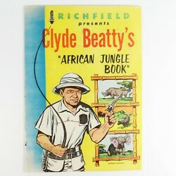 Clyde Beattyand039s African Jungle Book 7.0 Fn- 1956 Golden Age Comic One Shot