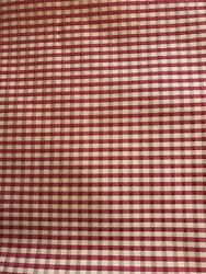 Two 82andrdquo X 48andrdquo Plaid Red Primitive Curtain Panels