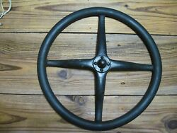 Vintage Antique Ford Model T Steering Wheel 17 Rubber And Metal