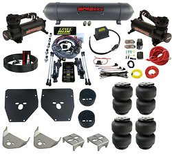 Complete 3 Preset Height Level Ride Air Suspension Kit W/480 Black For 73-87 C10