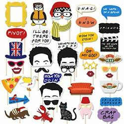 40 Pcs Friends Themed Photo Booth Props Tv Show Birthday Party Supplies Bridal