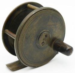 Antique Hardy Bros Brass Fishing Fly Casting Reel