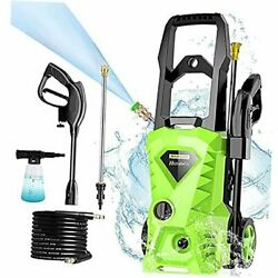Electric Pressure Washer, 2500 Psi 1.5 Gpm Power Washer, 1800 W High Green