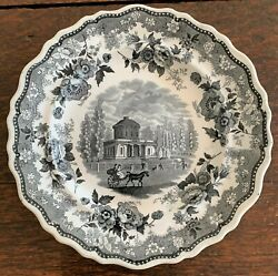 Historical Staffordshire plate quot;The Waterworks Philadelphiaquot; by Jackson