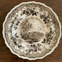 Historical Staffordshire small plate quot;Battery New Yorkquot; by Jackson