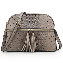 Women Small Lightweight Zipped Crossbody Purses Dome Shoulder Bags with Tassel $25.99