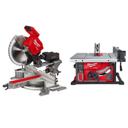 M18 Fuel 18v L-ion Brushless 12 In. Cordless Miter Saw 8-1/4 In. And Table Saw