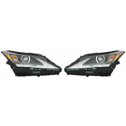 For Lexus Rx350l Headlight Assembly 2018 2019 Pair Rh And Lh Side Single Beam