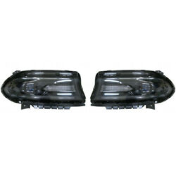 For Dodge Charger Headlight Assembly 2016-2019 Pair Rh And Lh Side Halogen Type