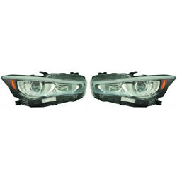 For Infiniti Q50 Headlight Assembly 2018 2019 Pair Rh And Lh Side In2502179