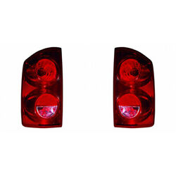 For Dodge Ram 2500 Tail Light 2007 2008 2009 Pair Rh And Lh Side W/ Bulbs Capa