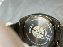 Seiko Astron Sbxc079 Day Date Used Green Gps Solar Mens Watch Authentic Working