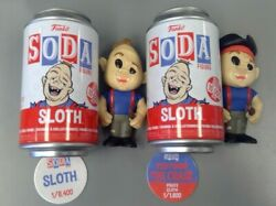 Funko Soda Goonies Sloth Regular And Pirate Chase Variant 1/8400 And 1/1600