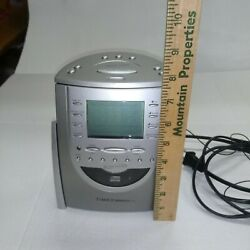 Timex Indiglo T619t Am/fm Radio Cd Player Alarm Clock Snooze And Nature Sounds