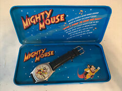 Fossil Wrist Watch, Mighty Mouse Collectors Watch 1994 Viacom Terrytoons Dinky