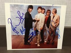 Mick Jagger Rolling Stones Photo 8x10 Signed By Four Coa