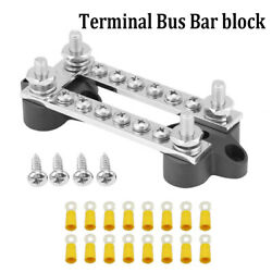 12 Point Terminal Bus Bar Junction Block Power Post Car Boat Ground Distribution