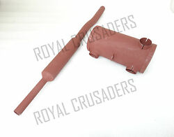 New James Ml Military Model Ww2 Raw Steel Silencer And Exhaust Pipe Rep