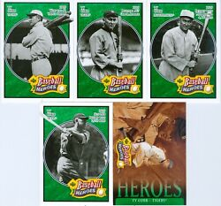 Lot Of 5 Ty Cobb 2005 Upper Deck Baseball Heroes Emerald Trading Cards