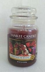 Yankee Candle Christmas Morning Retired Scent 22 oz White Label