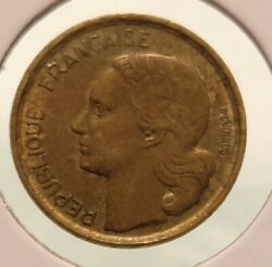 1953 France French 10 Francs Rooster Coin