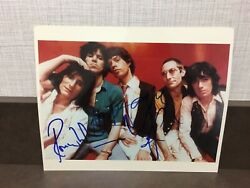 Mick Jagger Rolling Stones Photo 8x10 Signed Coa