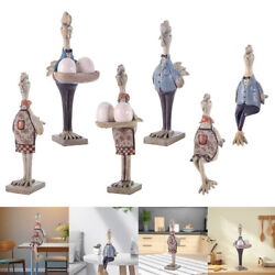 Resin Chicken Statue Small Animal Figurine Decoration Ornament For Gift Home