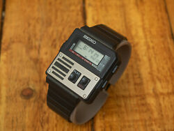 Vintage Extremely Rare Seiko M516-4009 Voice Recorder Digital Lcd Ghostbusters