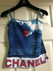 Cami Camisole Vintage 02 S Surf Blue Red Top Shirt Tank Cc Logo Top 38 6