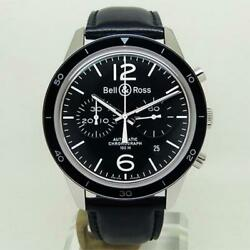 Bell And Ross Watch Br126-95-sp Vintage Sports Chronograph Black Automatic Mens