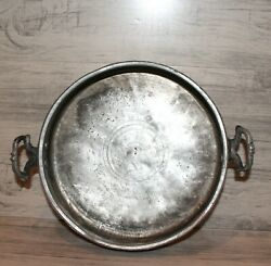 Antique Hand Made Wrought Tinned Copper Baking Dish